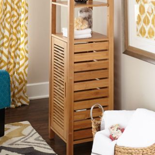 Linon Bracken Bamboo Storage Cabinet
