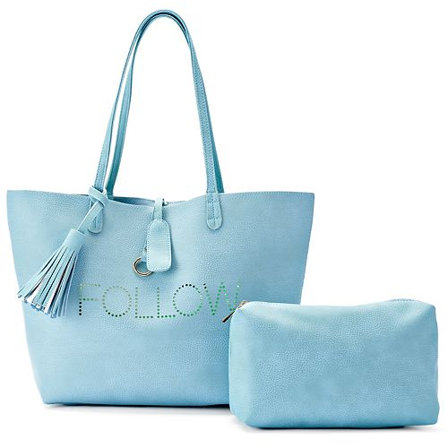 Olivia Miller Perforated Tote with Pouch