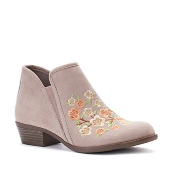 SO® Meme Women's Floral Embroidery Ankle Boots
