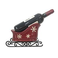 St. Nicholas Square® Yuletide Snowflake Sled Wine Holder