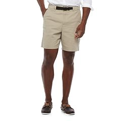 Big & Tall Croft & Barrow® Classic-Fit Twill Belted Outdoor Shorts