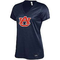 Women's Under Armour Auburn Tigers Tech V-Neck Tee