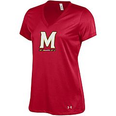 Women's Under Armour Maryland Terrapins Tech V-Neck Tee