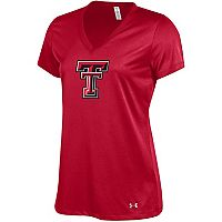 Women's Under Armour Texas Tech Red Raiders Tech V-Neck Tee