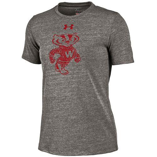 Women's Under Armour Wisconsin Badgers Triblend Tee