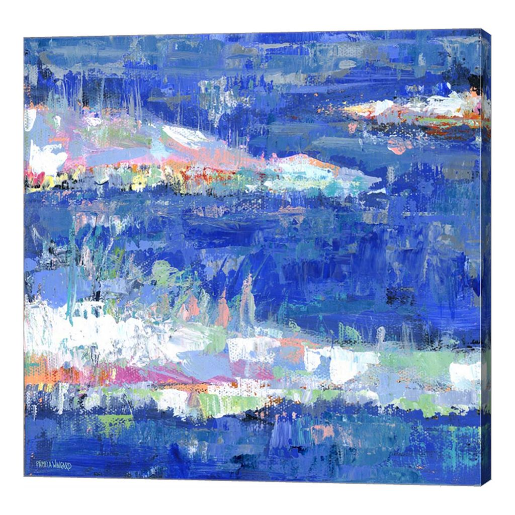 Metaverse Art Blue Series Calm Canvas Wall Art