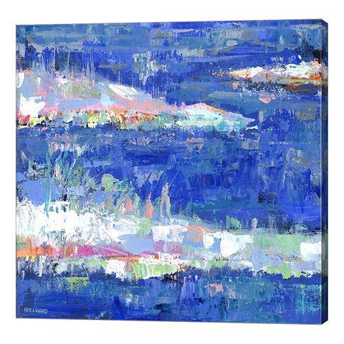 Metaverse Art Blue Series Calm Canvas Wall Art
