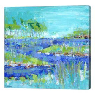 Metaverse Art Blue Series Inspiring Canvas Wall Art