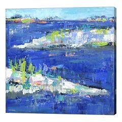 Metaverse Art Blue Series Peaceful Canvas Wall Art