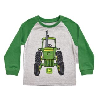 Baby Boy John Deere Front & Back Tractor Graphic Raglan Tee