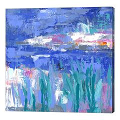 Metaverse Art Blue Series Quiet Canvas Wall Art