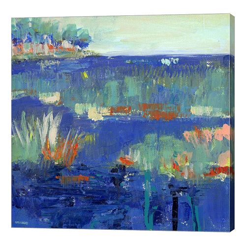 Metaverse Art Blue Series Rest Canvas Wall Art