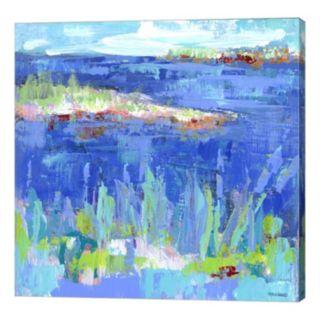 Metaverse Art Blue Series Serene Canvas Wall Art