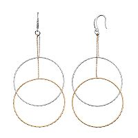 Jennifer Lopez Tiered Nickel Free Double Drop Hoop Earrings