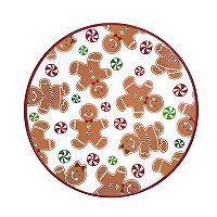 St. Nicholas Square® Gingerbread Cookie Christmas Salad Plate