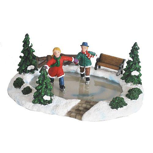 Christmas Village Ice Skating Rink.St Nicholas Square Village Skating Pond