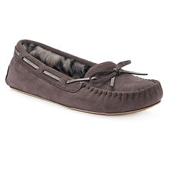 SO® Women's Microsuede Moccasin Slippers