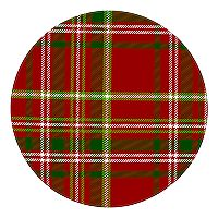 St. Nicholas Square® Plaid Christmas Dinner Plate