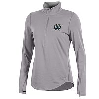 Women's Under Armour Notre Dame Fighting Irish Charged Cotton Quarter-Zip Top