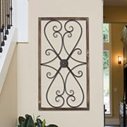 Stratton Home Decor Farmhouse Metal & Wood Scroll Wall Decor