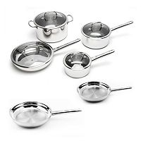 BergHOFF Earthchef Boreal Stainless Steel 10 pc Cookware Set