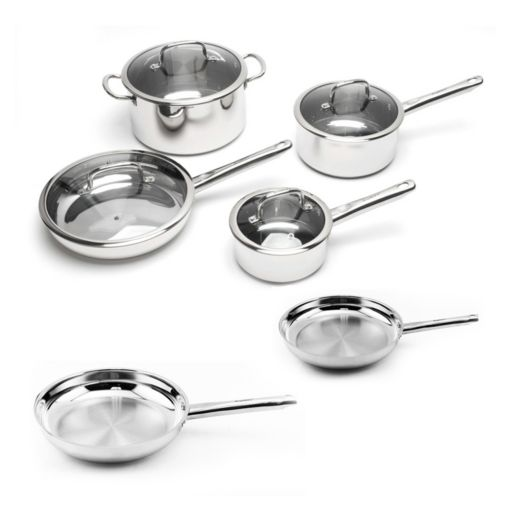 BergHOFF Earthchef Boreal Stainless Steel 10-pc. Cookware Set