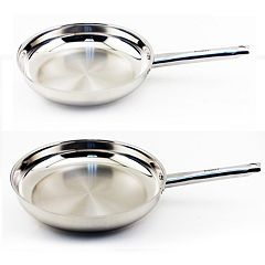 BergHOFF Earthchef Boreal Stainless Steel 2 pc Frypan Set