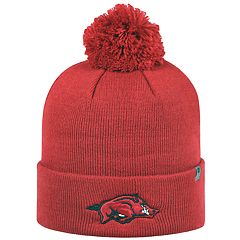 Youth Top Of The World Arkansas Razorbacks Tow Pom Hat