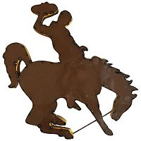 Wyoming Cowboys Metal Wall Décor