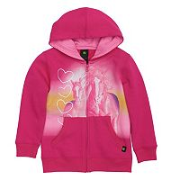 Girls 4-6x John Deere Horses & Hearts Fleece Hoodie