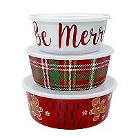 St. Nicholas Square® 3 pc Christmas Stacking Containers Set