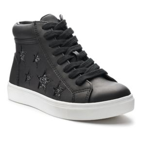 SO® Nellie Star Girls' High-Top Sneakers