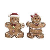St. Nicholas Square® 2-pc. Gingerbread Christmas Salt & Pepper Set