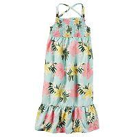 Toddler Girl Carter's Smocked Print Maxi Dress