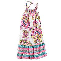 Toddler Girl Carter's Smocked Print Maxi Dress