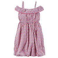 Toddler Girl Carter's Print Off-The-Shoulder Dress