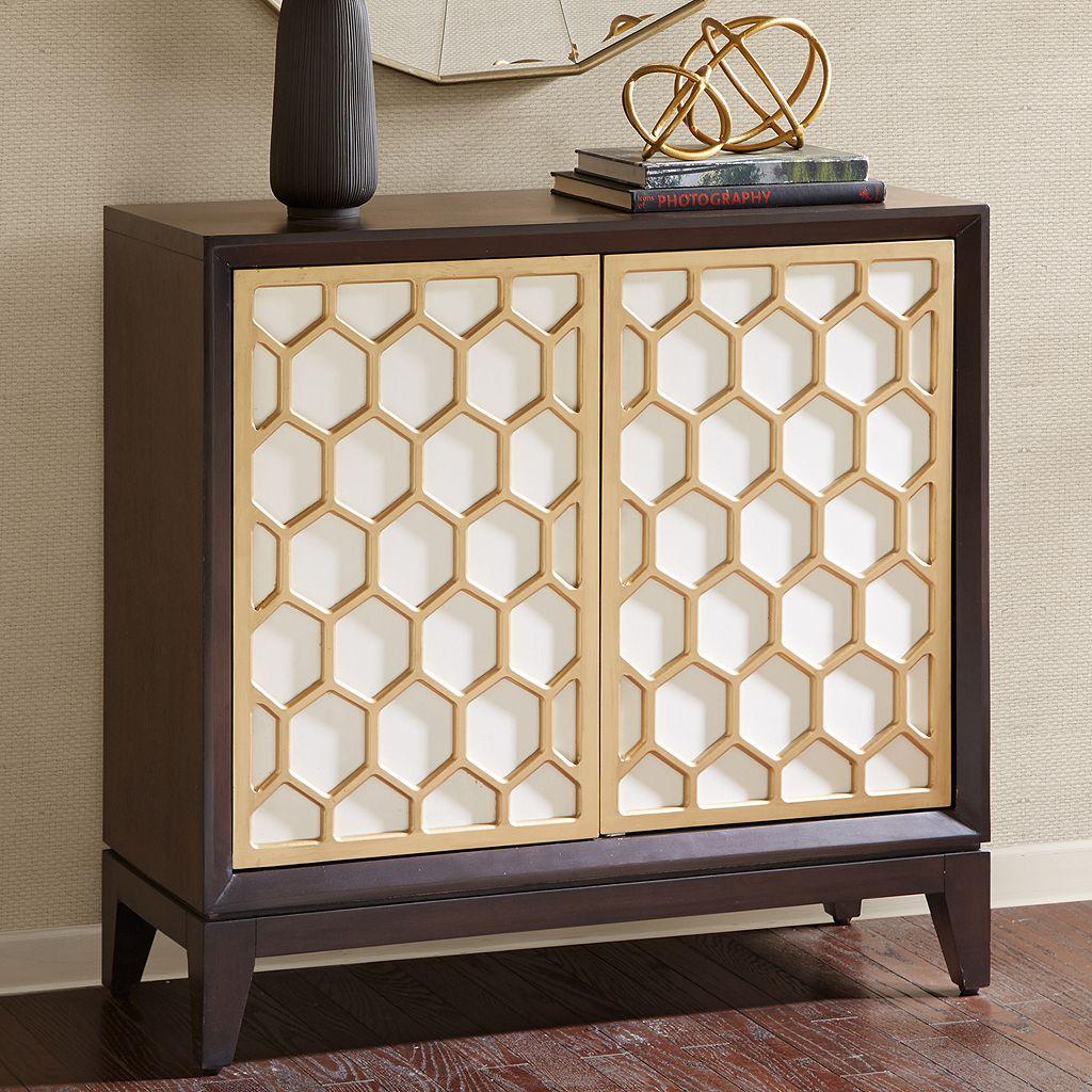 Madison Park Amrita Honeycomb Storage Cabinet