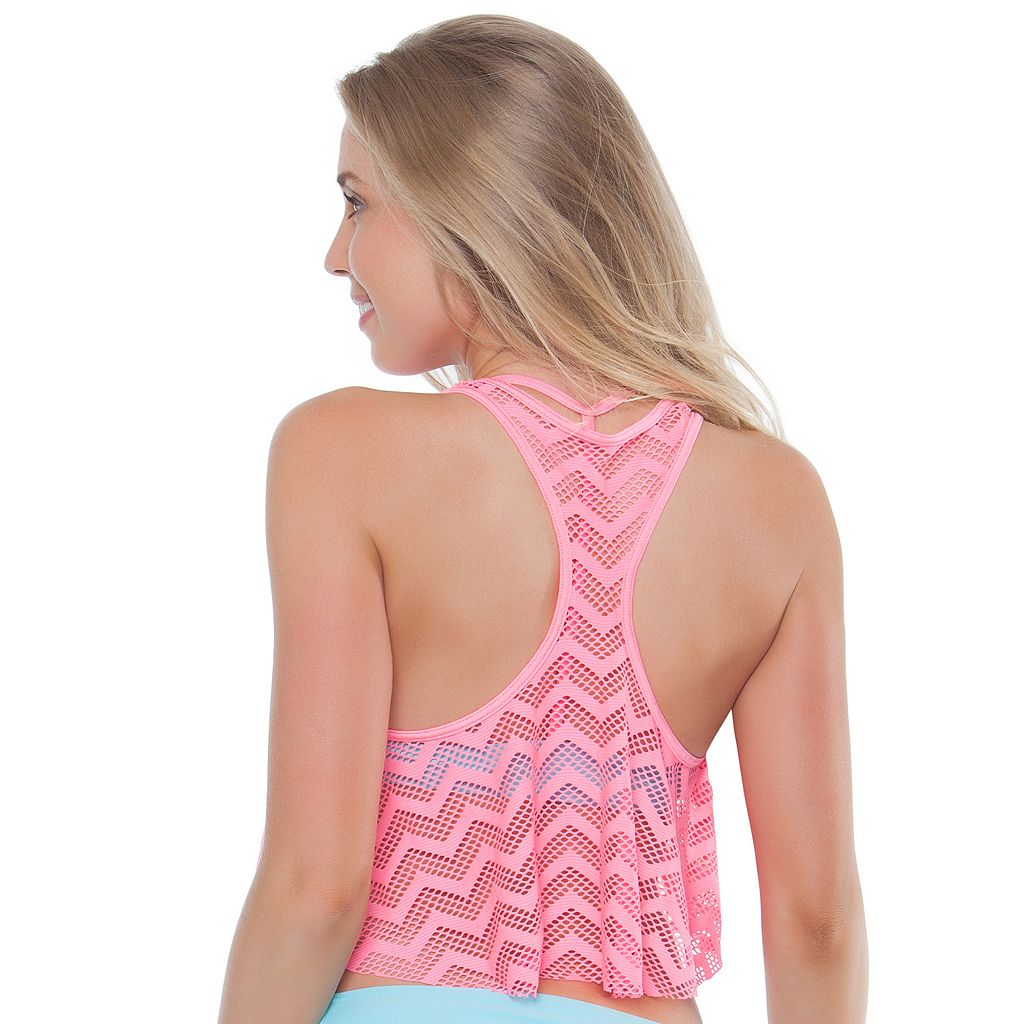 Mix and Match Chevron Flounce Midkini Top