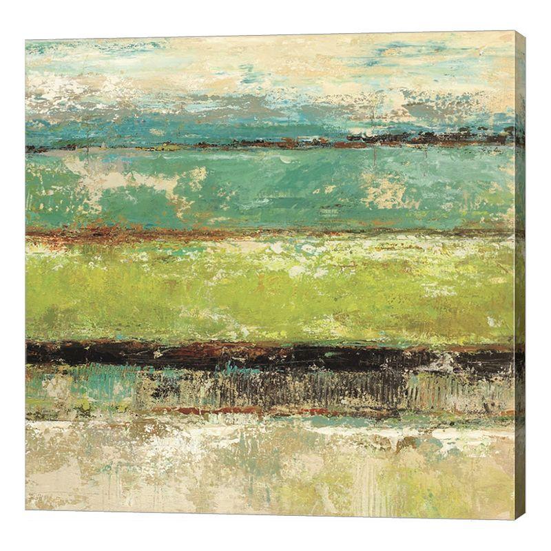 """Metaverse Art Living Green II Canvas Wall Art. Multicolor. 12""""X12"""""""