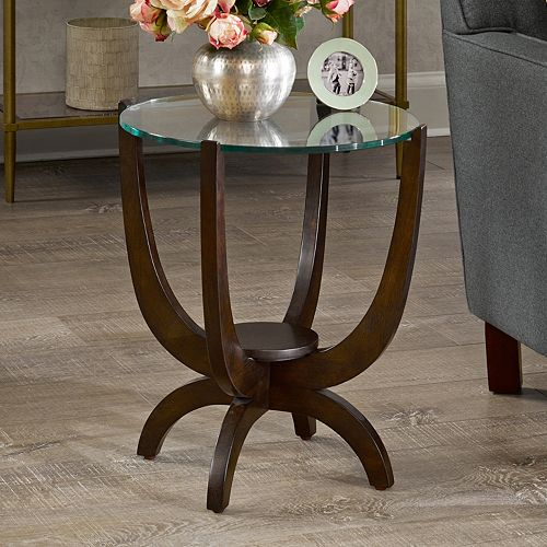 Madison Park Glass Top End Table