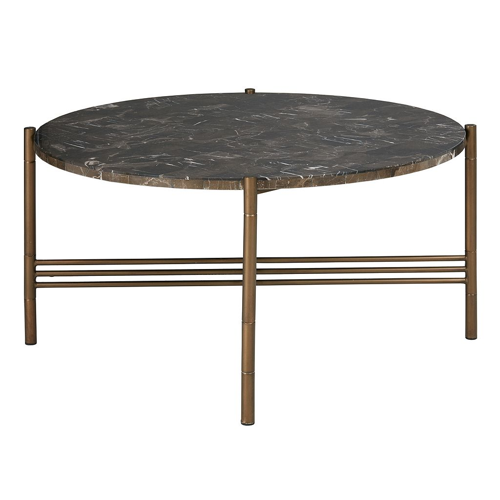Madison Park Rowen Faux Marble Coffee Table