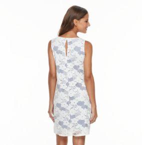Women's Tiana B Contrast Lace Shift Dress