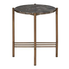 Madison Park Rowen Faux Marble End Table