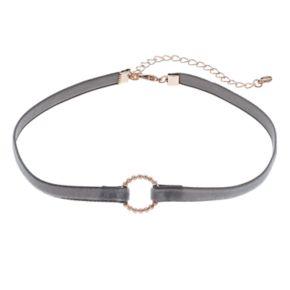 LC Lauren Conrad Circle Velvet Choker Necklace