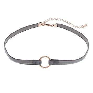 LC Lauren Conrad Circle Velvet Choker Necklace