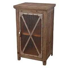 Decor Therapy Rustic Chicken Wire Storage Cabinet