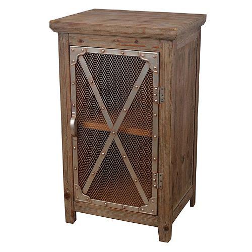 Decor Therapy Rustic Chicken Wire Storage Cabinet