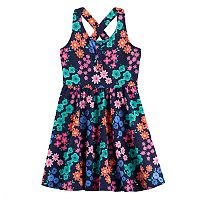 Toddler Girl Jumping Beans® Print Cross-Back Skater Dress