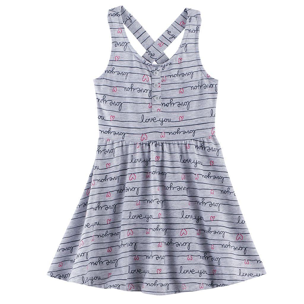 Toddler Girl Jumping Beans® Print Cross-Back Skater Dress