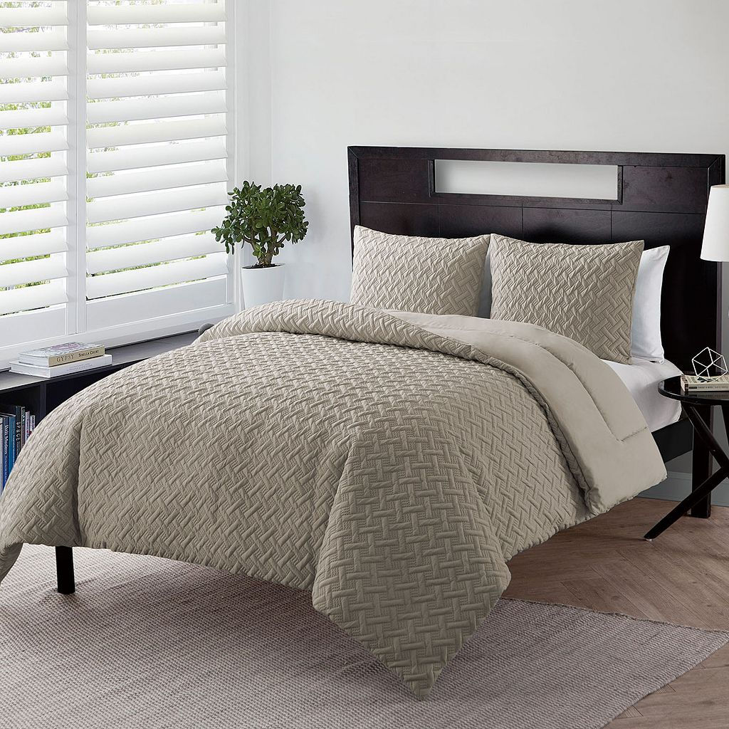 VCNY Nina Embossed Down-Alternative Comforter Set